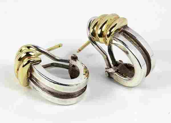 Pair of Tiffany & Co. Atlas 18k yellow gold and