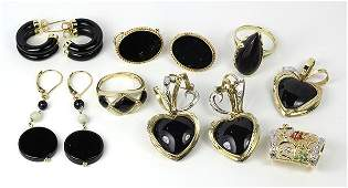 Collection of multi-stone, diamond, yellow gold and