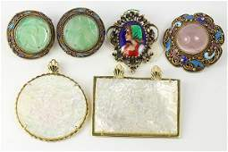 Collection of multistone enamel 14k gold and silver