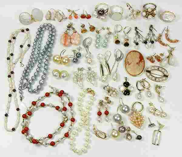 Collection of multi-stone, imitation pearl, gold,