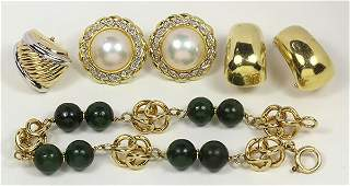 Collection of gem and 14k gold jewelry