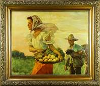 Painting, Circle of Fernando Amorsolo