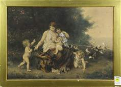 Print Lady Nursing her Young 1887