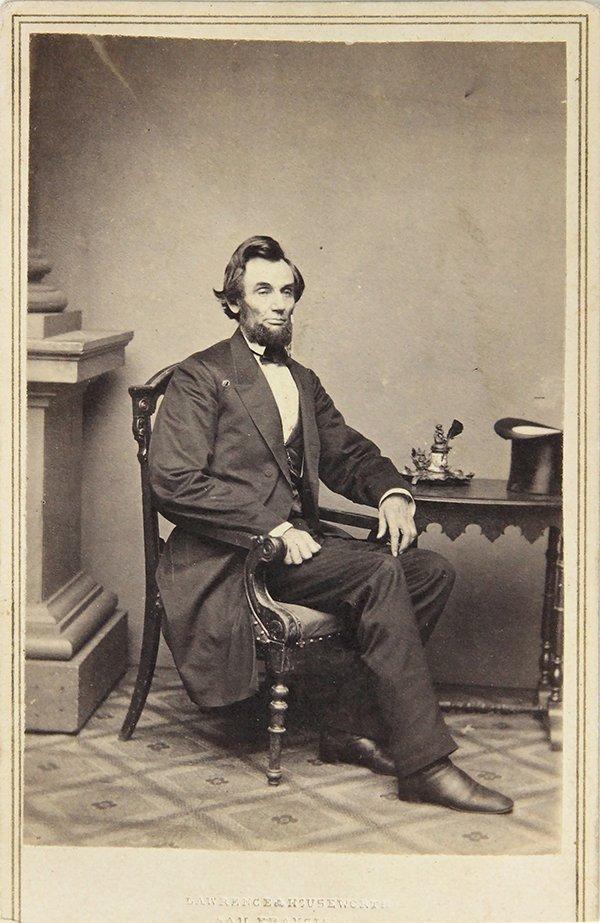 Abraham Lincoln carte de visite by Matthew Brady