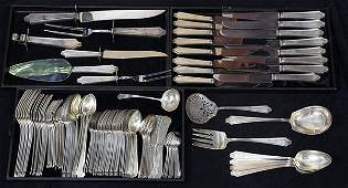 American sterling silver flatware service for eight by