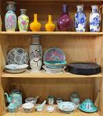 Three Shelves of Chinese Porcelain