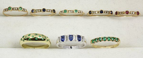 Collection of multi-stone, diamond and yellow gold