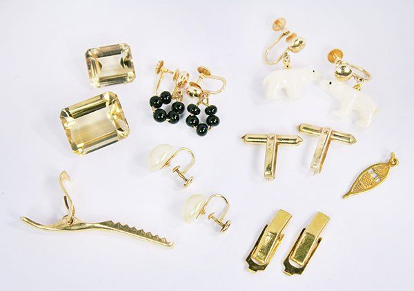 Collection of multi-stone and gold jewelry