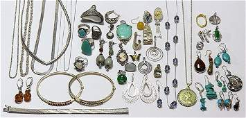 Collection of multi-stone and 14k gold jewelry