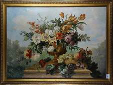 Painting, Still Life with Fruit and Flowers