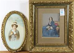 Prints Woman Seated in Blue and Young Pilgrim