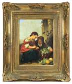 Hand painted German porcelain plaque early 20th