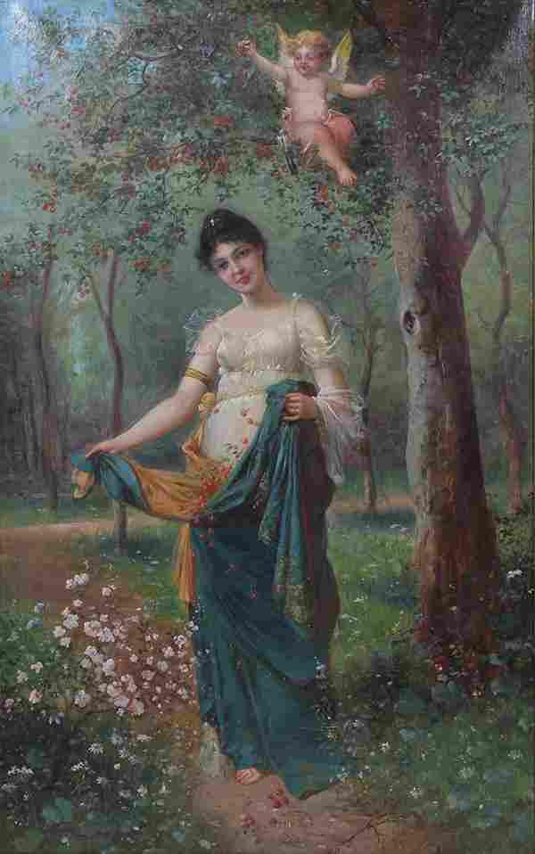 Eugene de Blaas (Austrian/Italian, 1843-1932), Maiden