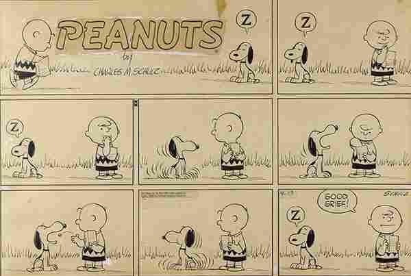 Charles Schulz, Peanuts Sunday comic strip, 1958