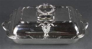 English sterling silver covered fourpiece server by