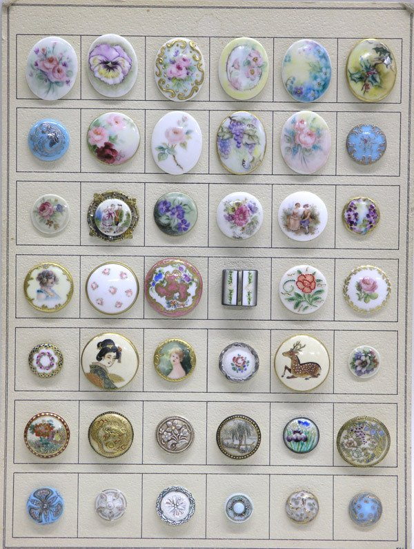 4007: Lot of Limoges buttons