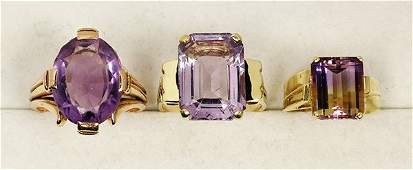 Collection of quartz and 14k gold jewelry
