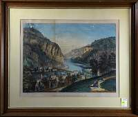 Print Currier  Ives View of Harpers Ferry Virginia