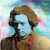 Embellished Print, Steve Kaufman, Beethoven Gold