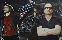 Embellished Print, Steve Kaufman, Triple Bono U2, 2008