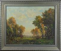 Painting, Meadow in the Woods