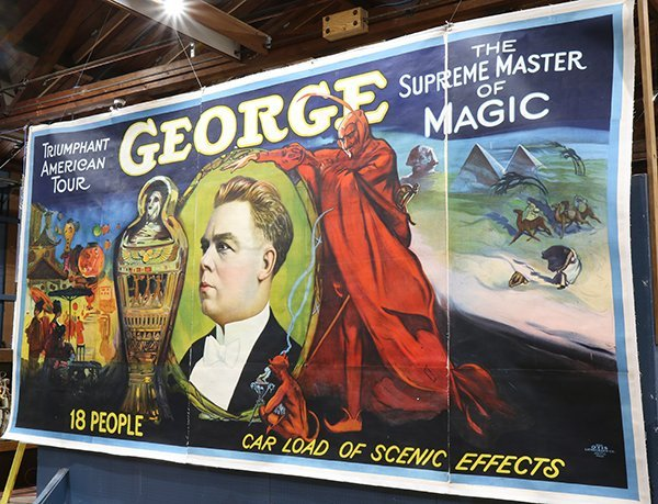 Vintage Magic Poster, George the Supreme Master of