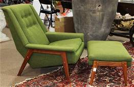 (lot of 2) Danish Mid-Century Modern teak lounge chair,