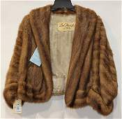 Light brown short mink jacket, professionally cleaned
