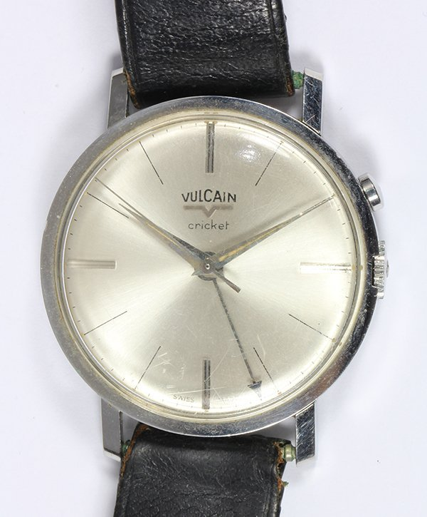 Gentleman's Vulcain Cricket alarm stainless steel