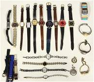 Collection of watches and watch straps