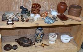 Two Shelves of Decorative Items