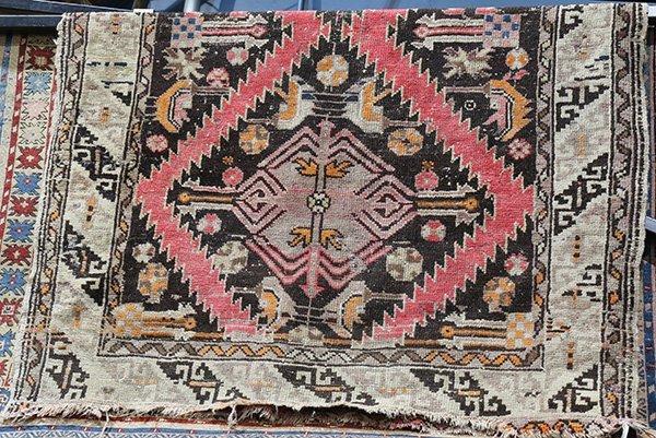 "Caucasian Karabagh rug, 3'5"" x 5', circa 1930,"