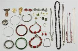 Collection of fashion and metal jewelry