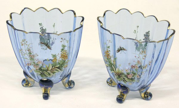 17: Pair of Continental footed vases
