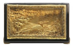 French Gold And Tortoise Shell Snuff Box