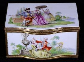 Meissen Porcelain Jewel Box
