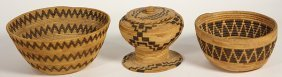(lot Of 3) Central California Basketry Group