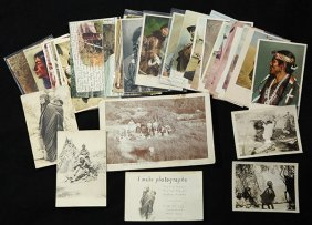 (lot Of Approx 48) Native American Postcards