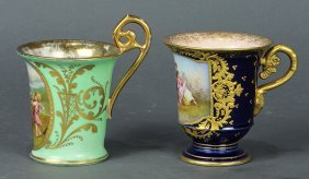 Royal Vienna And Sevres Porcelain Cabinet Cups