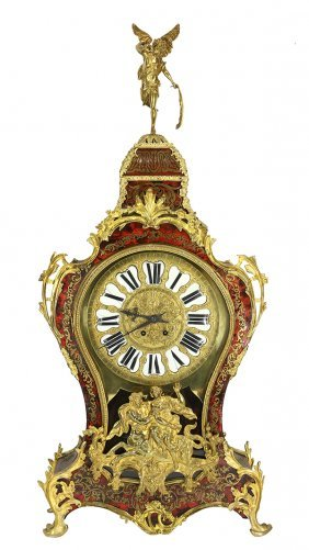 Louis Xv Style Boulle Decorated Bracket Clock On Stand