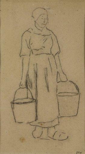 Drawing, Jean Francois Millet