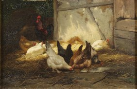 Painting, Eugene Remy Maes