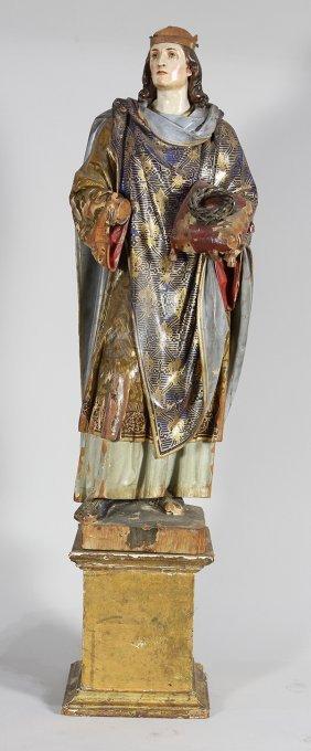Continental Carved Wood Santos Figure