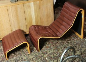 (lot Of 2) Mid-century Moderne Lounge Chair