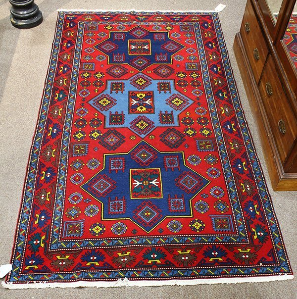 Semi antique Caucasian Kazak carpet