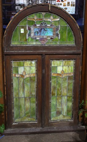 Framed Stained Glass Window