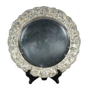 Russian Faberge Art Nouveau .875 Silver Charger