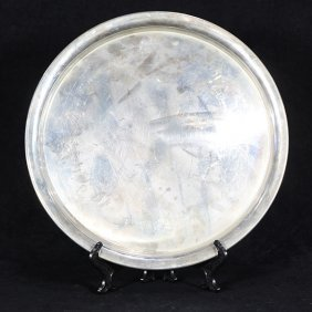 American Sterling Ssilver Trays By Wallace And Baldwin