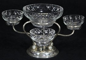 Gorham Sterling Silver Weighted Modernist Epergne