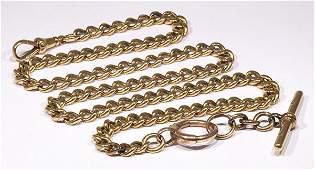 Yellow gold pocket watch chain